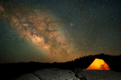 How to Photograph a Glowing Tent under a Starlit Sky