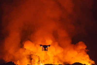 Incredible Drone Aerial Footage Of Iceland Volcano