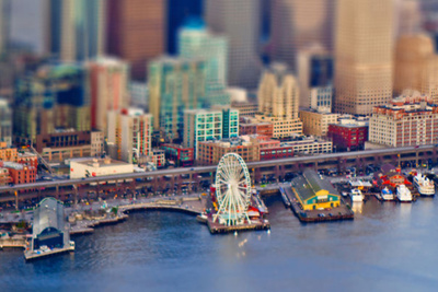 Tiny Seattle: Photographer Captures Whimsical Aerial Photos of Pacific Northwest