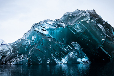 Rare Imagery of Flipped Icebergs in Antarctica