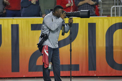 Baseball Legend Ken Griffey Jr. Now Photographing NFL Games from the Sidelines