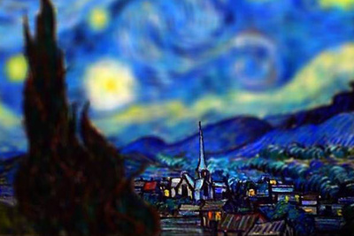 Surprisingly Realistic Tilt-Shift Images of Van Gogh's Most Famous Works