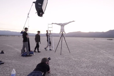 Watch Behind The Scenes As Joe McNally Shoots Gitzo Tripod Concept with Cirque du Soleil