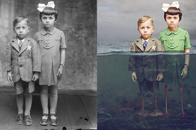 Photographer Colorized Old Photos While Adding Beautifully Surreal Narratives