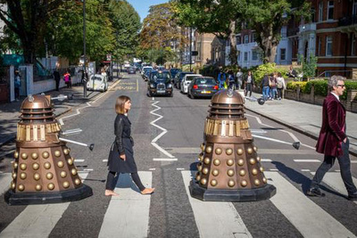 The Cast of 'Doctor Who' Recreate the Beatles' 'Abbey Road' Album Cover