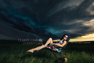 VonWong Goes Stormchasing for Severe Weather Backgrounds in Portrait Series about Climate Change