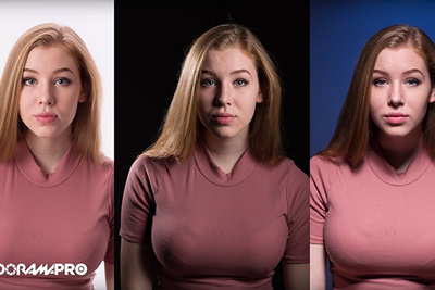 Creating Three Different Portrait Photo Lighting Setups in One Second