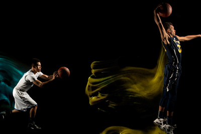 Mixed Light Basketball Portraits by Erik Christian