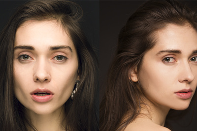 1 Light Beauty Portrait Setup