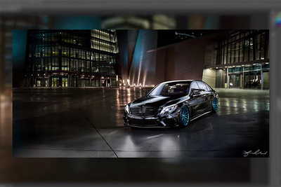 Automotive Light Painting Editing Process and BTS