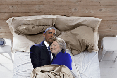 Photoshoppers Go to Town on Obama and Clinton Hug