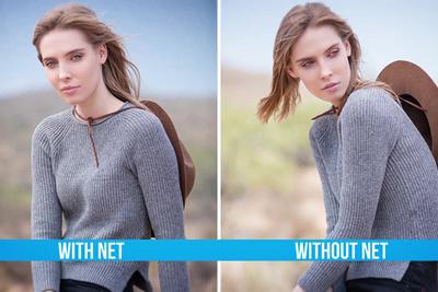 Using a Scrim Net to Control Background Brightness
