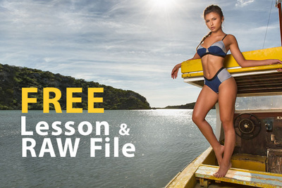 Free 50 Minute Excerpt From Joey Wright's Swimwear and Retouching Tutorial