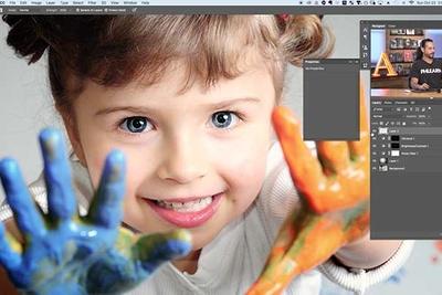 child portrait editing tips