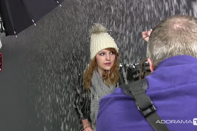 Adding Fake Snow to Your Winter Themed Portraits
