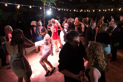 people dancing at night