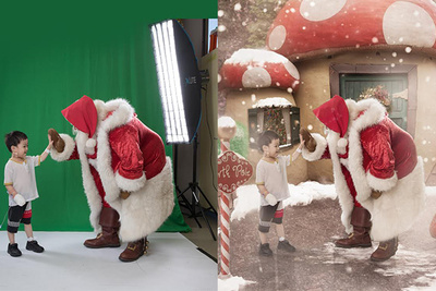 A Santa Shoot Turned Into a Christmas Wonderland for Sick Children [Exclusive Behind The Scenes]
