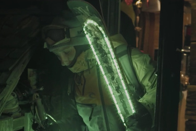 'Moonline' Combines Glow in the Dark Skis and Drones for an Amazing Short Film
