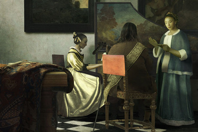 Erik Almas Asked to Recreate a Famous Vermeer Painting Using Stock Photos