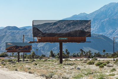 Artist Perfectly Aligns Landscape Images on Billboards In Front of the Mountains They're Blocking