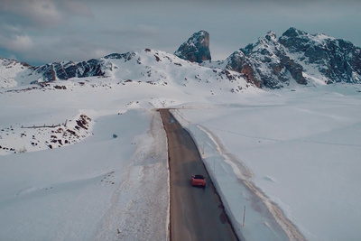 Peter McKinnon in the Alps to Shoot Porsches