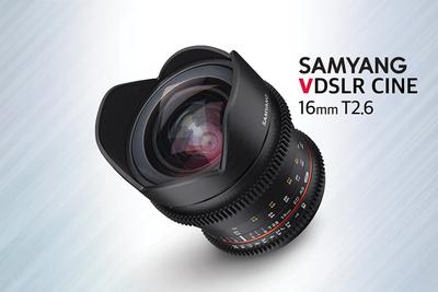Samyang Introduces VDSLR 16mm T2.6 Wide-Angle Cine Lens