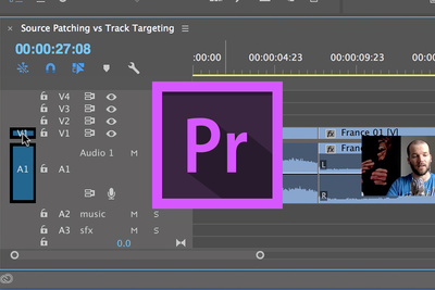 Understand Source Patching and Track Targeting in Adobe Premiere Pro