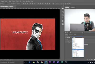 Quickly Navigate Through Photoshop Layers Using the Layer Search Function
