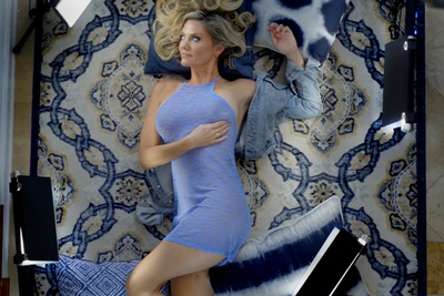 See How This Ex-Playboy Photographer Gives Her Glamour Work Visual Impact With Compact Lights