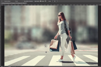 Adding Background Blur for a Shallow Depth of Field