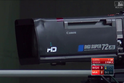 Miami Marlins Baseball Player Hits Home Run, Breaks Very Expensive TV Camera Lens