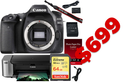 Canon 80D and Pro-100 Printer On Sale For $750 Today Only