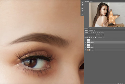 How to Create Fuller Eyebrows Using Photoshop