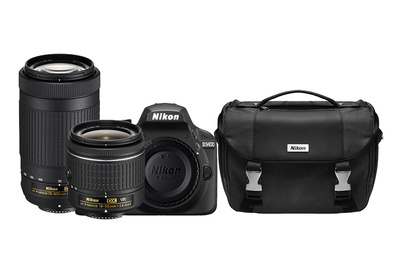 Nikon D3400 DSLR And Two Lenses For $399.99