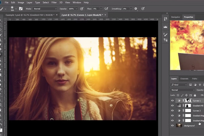 How to Use Adjustment Layers to Create Light Flares and Haze