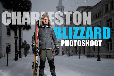 The Charleston Snow Photoshoot