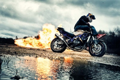 Shooting Explosions With World Champion Stunt Rider Mike Jensen