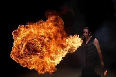 Fire Blowers, Slow Motion, And Bullet Time = Epic Video