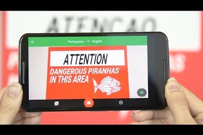 Watch Googles App Translate Text With Your Phone's Camera