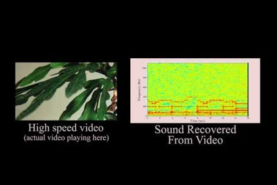 Scientists Can Recover Audio From Silent Video With Rolling Shutter