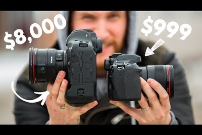 Side by Side Comparison of the Canon 80D and the 1D X Mark II