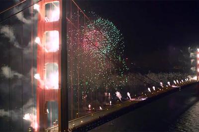 Timelapse Of Golden Gate Bridge's 75th Anniversary Fireworks Show