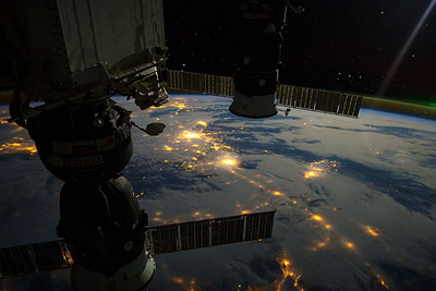 A Timelapse View Of Earth At Night From The International Space Station