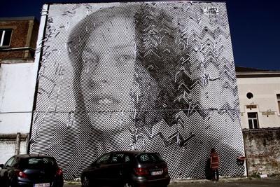 Enormous Portrait Murals by Street Artists Sten and Lex