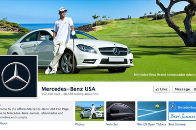 Mercedez-Benz USA's Timeline Image Is Badly Photoshopped