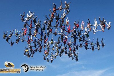 138 Skydivers Join Hands And Set The Vertical World Record