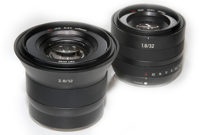 Zeiss Distagon T* 2.8/12, Planar T* 1.8/32 Lenses For Fuji XF And Sony E Mounts