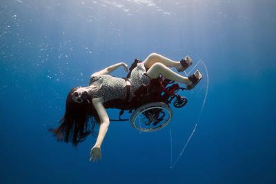 Freewheeling - Self Propelled Underwater Wheel Chair
