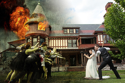 Using Photoshop To Turn A Wedding Day Into A Zombie Apocalypse