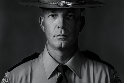 Using Film for Portraits of a Highway Patrolman